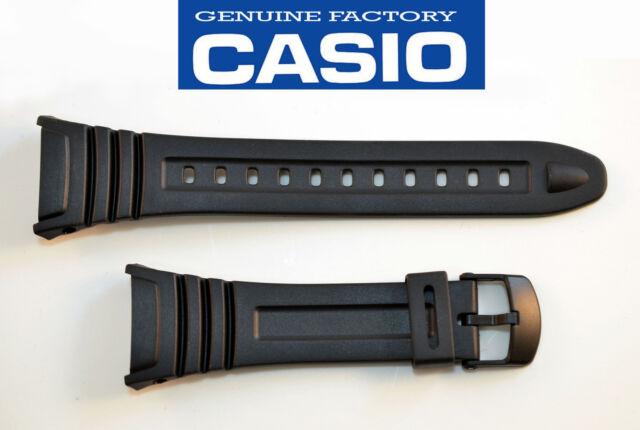 Genuine Casio ILLUMINATOR  Watch Band Black Rubber Strap W-96H-1BV W-96-2AVH