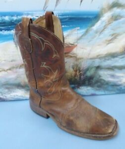 Double-H-Men-039-s-Domestic-Square-Soft-Toe-ICE-Roper-Western-Size-8-D-Boots-DH3560