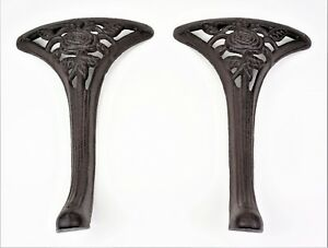 2-Cast-Iron-13-3-4-034-Legs-Bench-or-Coffee-Table