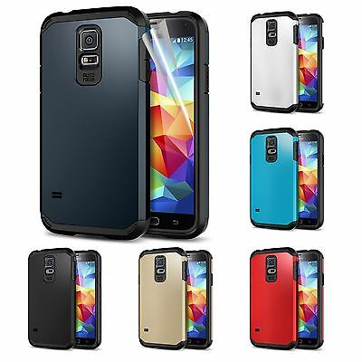 Hybrid Rugged Hard Armor Case Skin Smooth Back Cover For Samsung Galaxy S5