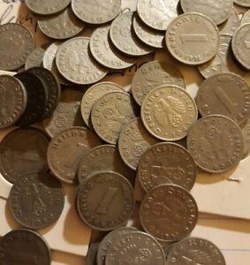 1 German ww2 Penny KM#97 Circulated Cleaned Nazi Reichspfennig 1 per order