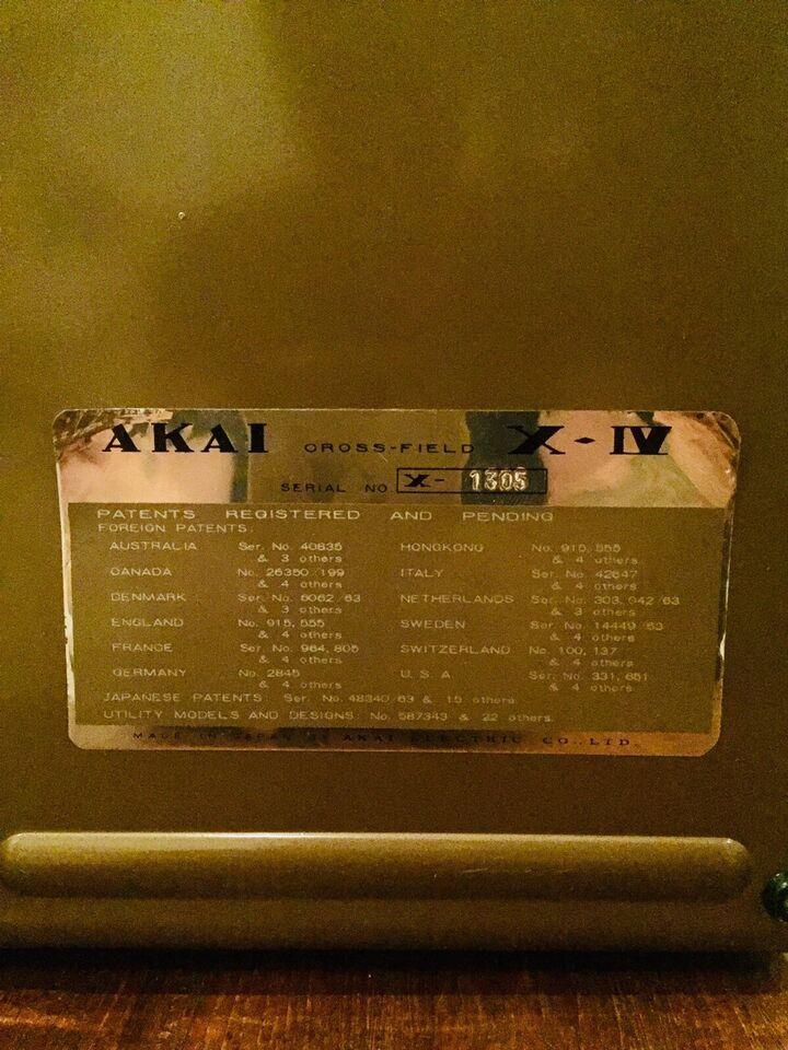 Spolebåndoptager, Akai, Cross Field X-IV