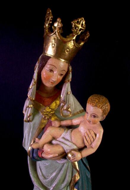 grosse Madonna mit Jesuskind - 57cm - Holz geschnitzt & Blattgold gefasst