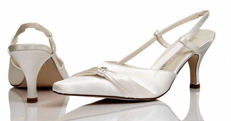 Ivory Satin Bridal Bridesmaid Wedding Shoes All Sizes By Pure & Precious ELLE