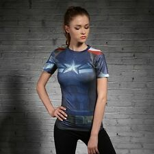 Captain America t-shirt The Winter Soldier tee shirt sport compression costume f