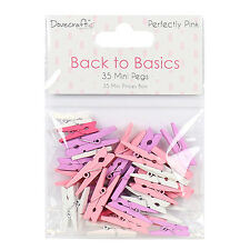 Dovecraft Back to Basics Perfectly Pink Mini Pegs for cards and crafts
