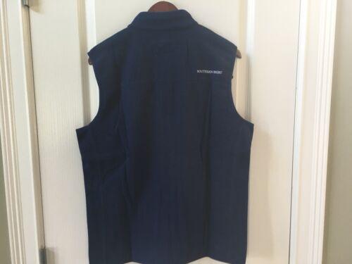 Mens Medium Southern Shirt Company Capital Blue Keller Vest