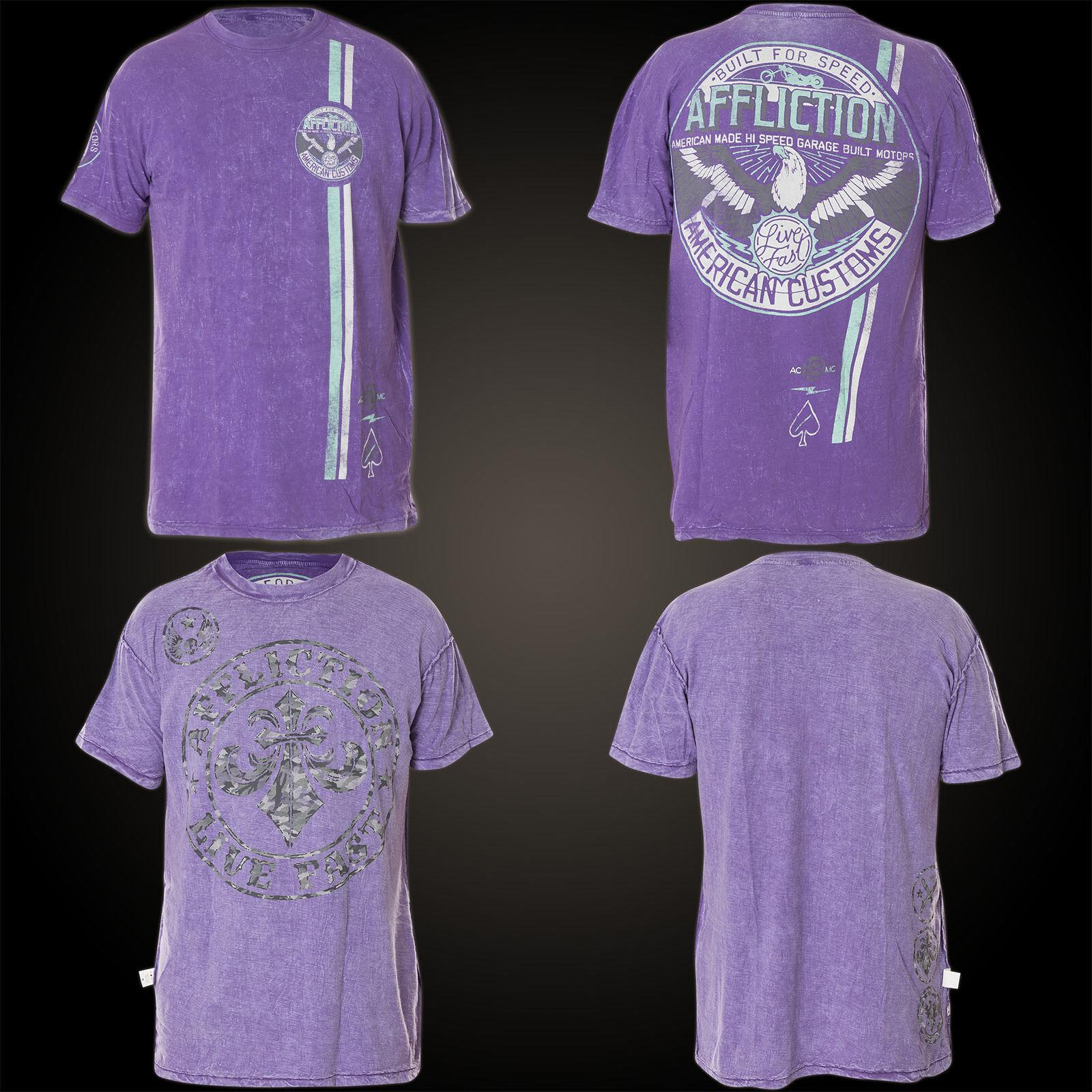 AFFLICTION T-Shirt Thunderbird Rev. Lila T-Shirts