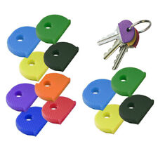 2 x COLOURED KEY CAP Top Head Cover ID Cap Ring Keyring Tab Protection
