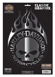 Harley Davidson Aufkleber Willie G Flame Furs Auto Motorrad Cg