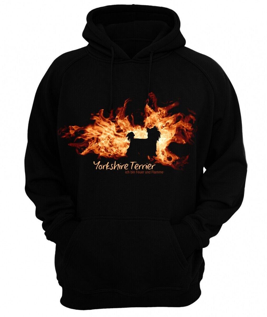 Sweatshirt YORKSHIRE TERRIER FEUER UND FLAMME by Siviwonder Hoodie
