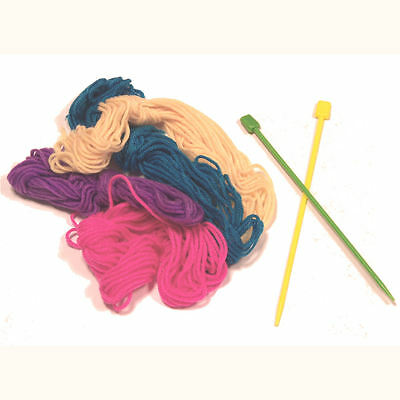 My 1st Knitting Set - Childrens Design & Create Kit - Wool Needles Instructions