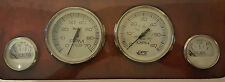 Faria Stainless & White w/ GPS Speedometer 4 Gauge Set Tachometer Fuel & Volt