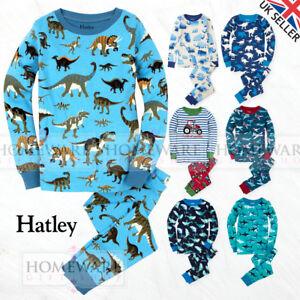 Garcons-pyjamas-en-coton-enfants-marque-Hatley-porter-100-coton-tailles-2Y-12Y
