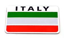 "ALUMINUM Italian Flag Emblem Sticker 3D Decal For Auto, Car, & Truck 2"" x 3"""