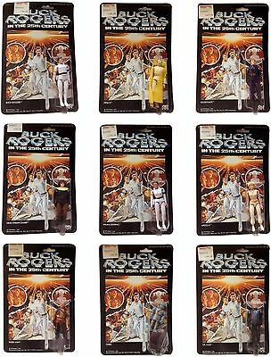 Vintage Buck Rogers in the 25th Century Action Figures 9 Set Twiki Wilma Ardella