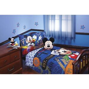 Charmant Disney Mickey Mouse Toddler Bedding Set 085214094182