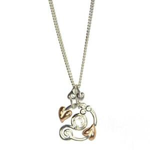 Clogau Pendant Topaz Welsh Silver 9ct Rose Gold Origin Tree of Life 22/'/' chain