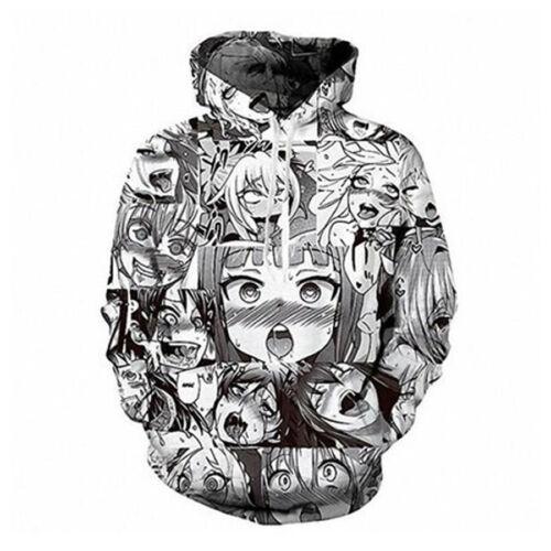 Ahegao Funny Anime Art 3D Print Women Men/'s Pullover Hoodie Jumper Tops