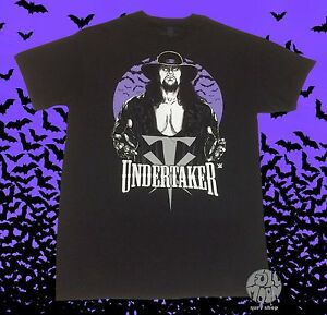 New-WWE-The-Undertaker-Bats-Vintage-Legends-WWF-Men-039-s-T-Shirt