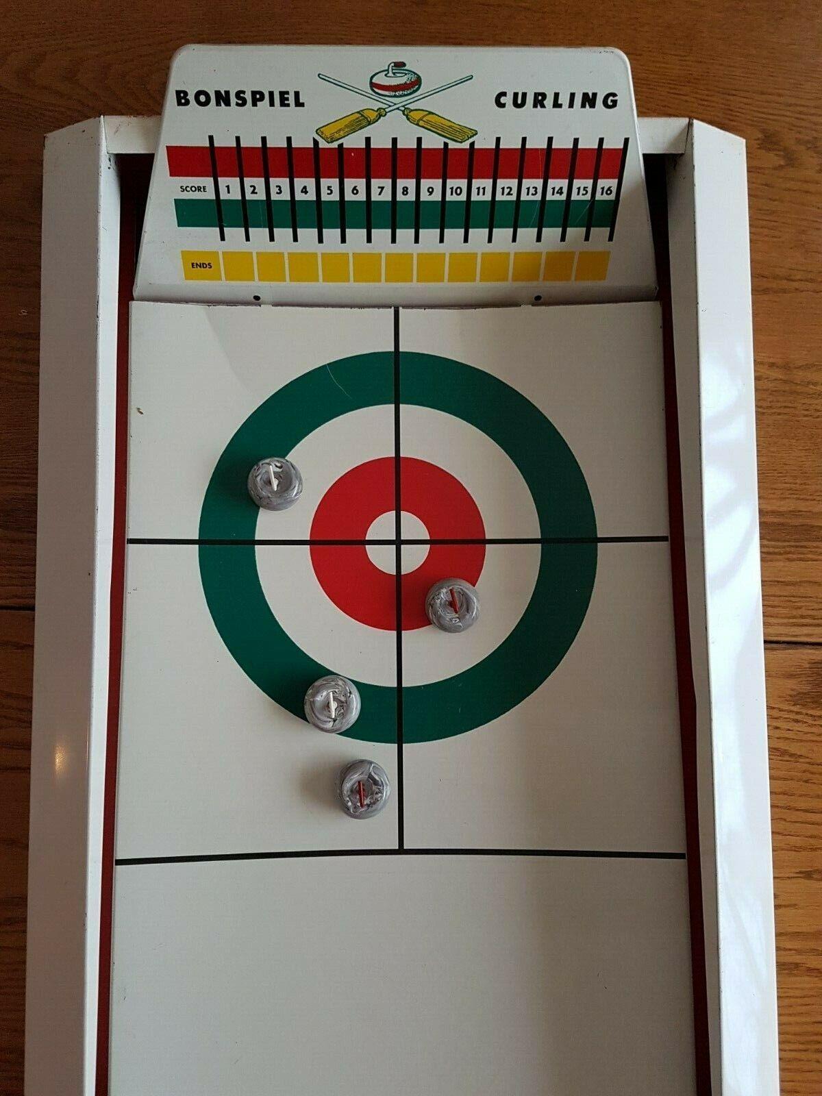 Vintage Large Bonspiel Bonspiel Bonspiel Curling Game 34  Long d18a88