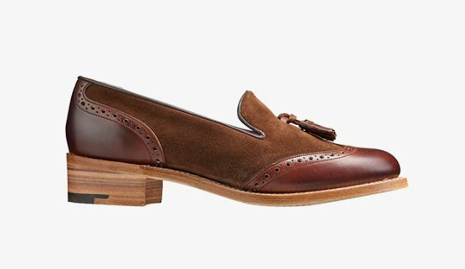 acquistare ora Donna  Handmade Bespoke Two Tone Oxford Brogue Brogue Brogue Wingtip Formal Tassels Slip Ons  outlet