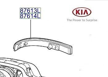 LH 87613C5000 Genuine Kia Sorento 2015-2016 Indicator Side Repeater Lamp