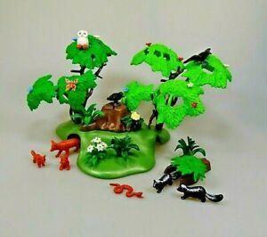 Playmobil-Spielset-Baeume-Waldtiere-Fuchs-Stinktier-Eule-Konvolut