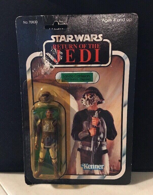 1983 Star Wars Return of the Jedi Lando Calrissian Skiff Guard Kenner redJ NEW
