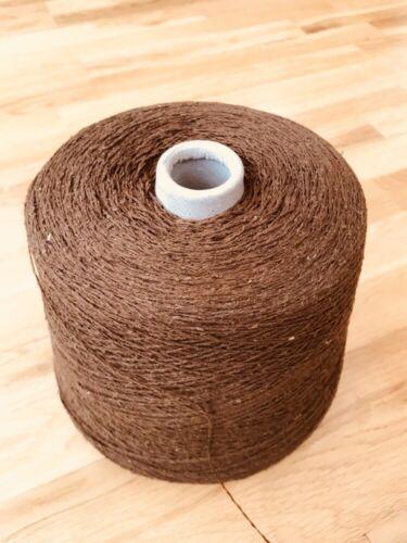 100/% seda cruda Mid Marrón 800 gramos Cono 2//12nm Mano//Máquina Tejer Crochet Artesanal//..