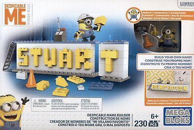 Mattel DRV32 Ich einfach unverbesserlich Name Bauset Minions Mega Bloks