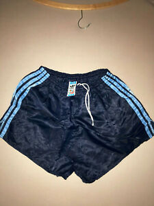 Details zu Nylon Pants True Vintage ERIMA Retro Glanz Shorts 4 S Blau 80 er Kurz Sporthose