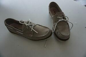 Details zu TAMARIS active Damen Schuhe Segelschuhe Mokassin Slipper Gr.41 beige Nubuk Leder