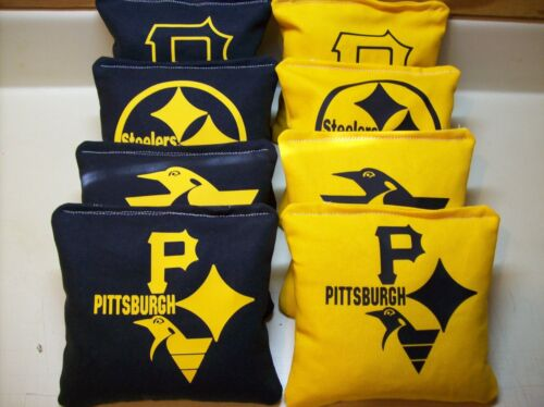Penquins Pittsburgh #3 Tri Steelers Pirates Cornhole Bags 1 of each