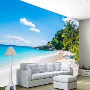 Image Is Loading Beach Tropical Tree Sea Ocean Photo Wallpaper Wall