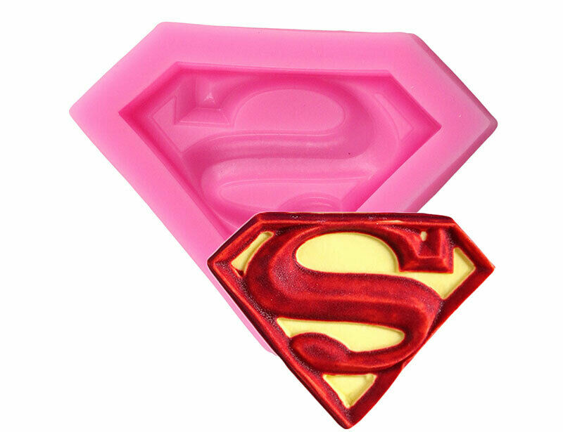 Superman Logo Shape Silicone Mold Diy chocolate Resin Clay Jewelry B10