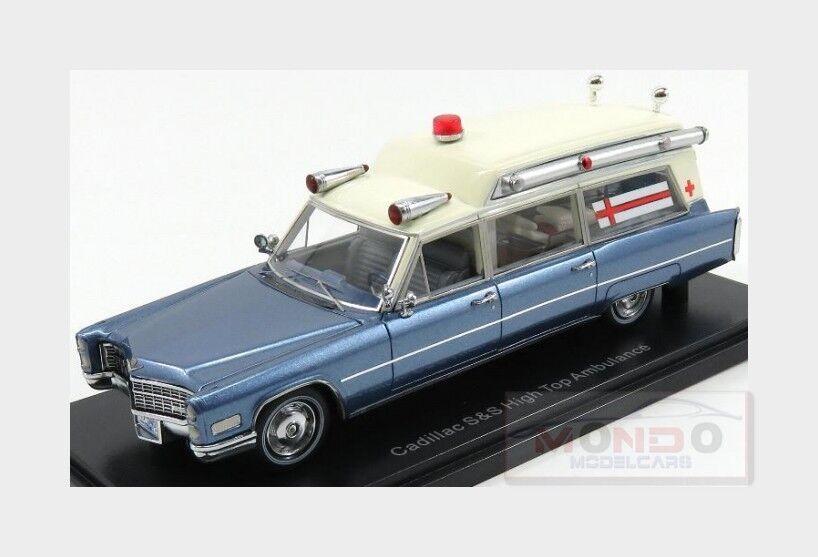 Cadillac S&S High Top Ambulance Ambulance Ambulance Ambulanza 1966 NEOSCALE 1 43 NEO49545 Model 0a034a