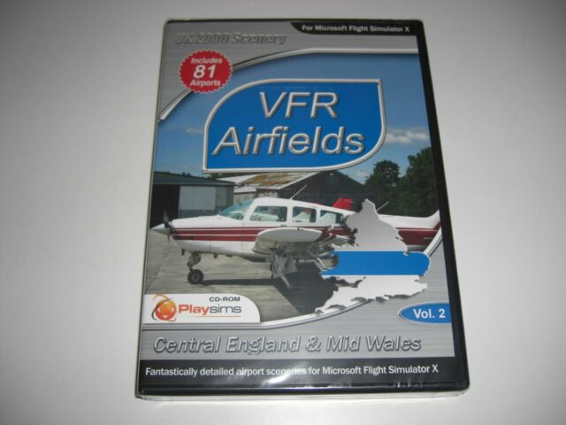 VFR Airfields Vol 2 Central England & Mid Wales Microsoft FSX PC Game Add-on