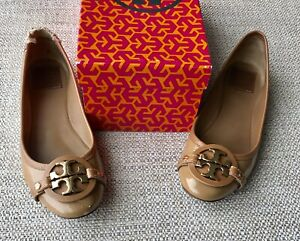 444b95c3e4c TORY BURCH  AADEN  Ballet Flat  Sand  Beige Tumbled Patent Leather ...