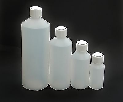 Plastic Bottles HDPE,  Screw Cap, FREE Shipping, Various Sizes Available