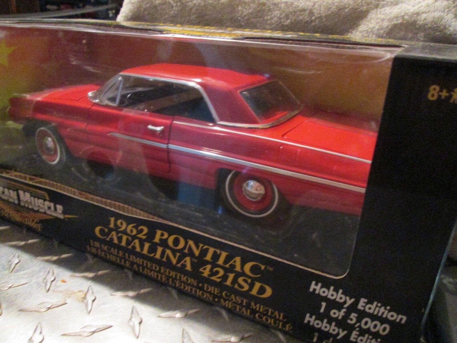 1962 62 Pontiac Catalina Catalina Catalina 421SD  1/18  American Muscle hobby edition  32991 rosso b7b0e3