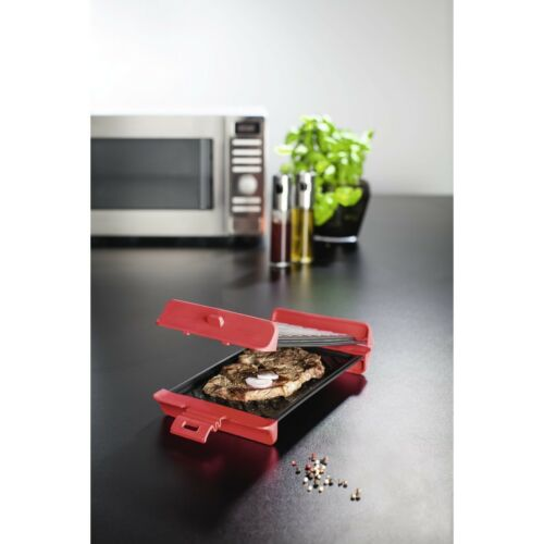 Xavax Grill Plate for Microwave, up to 900W, 29.5 x 15.1 x 5.8 cm, 2 pcs