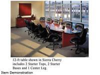 Corsica Conference Series Modular Table Center Leg, Sierra Cherry on sale
