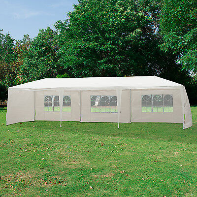 Outsunny 9m x 3m Outdoor Garden Gazebo Wedding Party Tent Canopy Marquee White