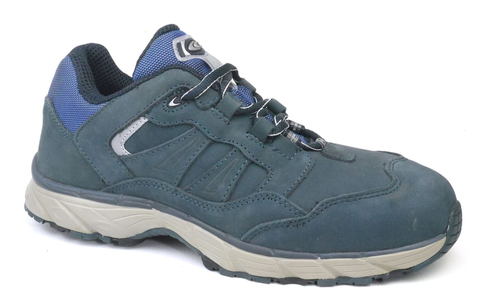 Cofra Trainer Ghost Navy Azul Leather S3 Toecap Misole Safety Trainer Cofra Hikers Lace Hombre 2476c1