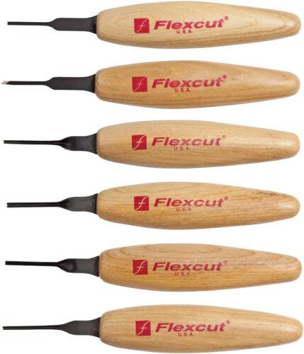 "Flexcut Mixed Profile Micro 1.75/"" Wood Handle Tool Set"
