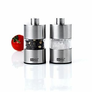 AdHoc Stainless Steel Mini Salt & Pepper Mill Set