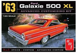 SKILL 2 MODEL KIT 1963 FORD GALAXIE 500 XL 3-IN-1 KIT 1//25 SCALE BY AMT AMT1186