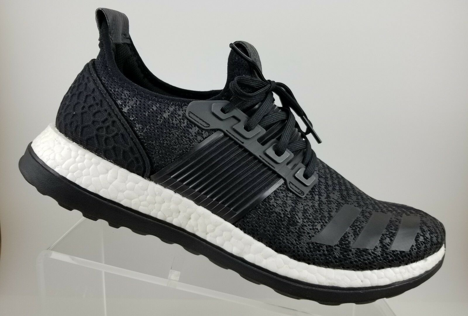 super popular 2a4bf d33f8 Adidas Adidas Adidas PureBoost Black White Athletic Running Walking shoes  Mens 12M BA8613 256cc8