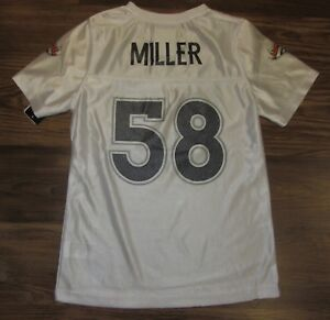 Image is loading NFL-Denver-Broncos-Von-Miller-Girls-Jersey-White- c43d12a95